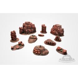 Zestaw terenów Mars ze znacznikami