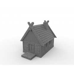 Mała drewniana chata