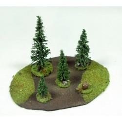 Las średni